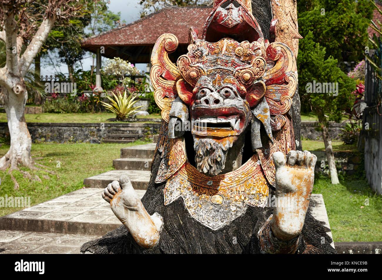 Barong statue in the Tirta Gangga water palace, a former royal palace. Karangasem regency, Bali, Indonesia. - Stock Image