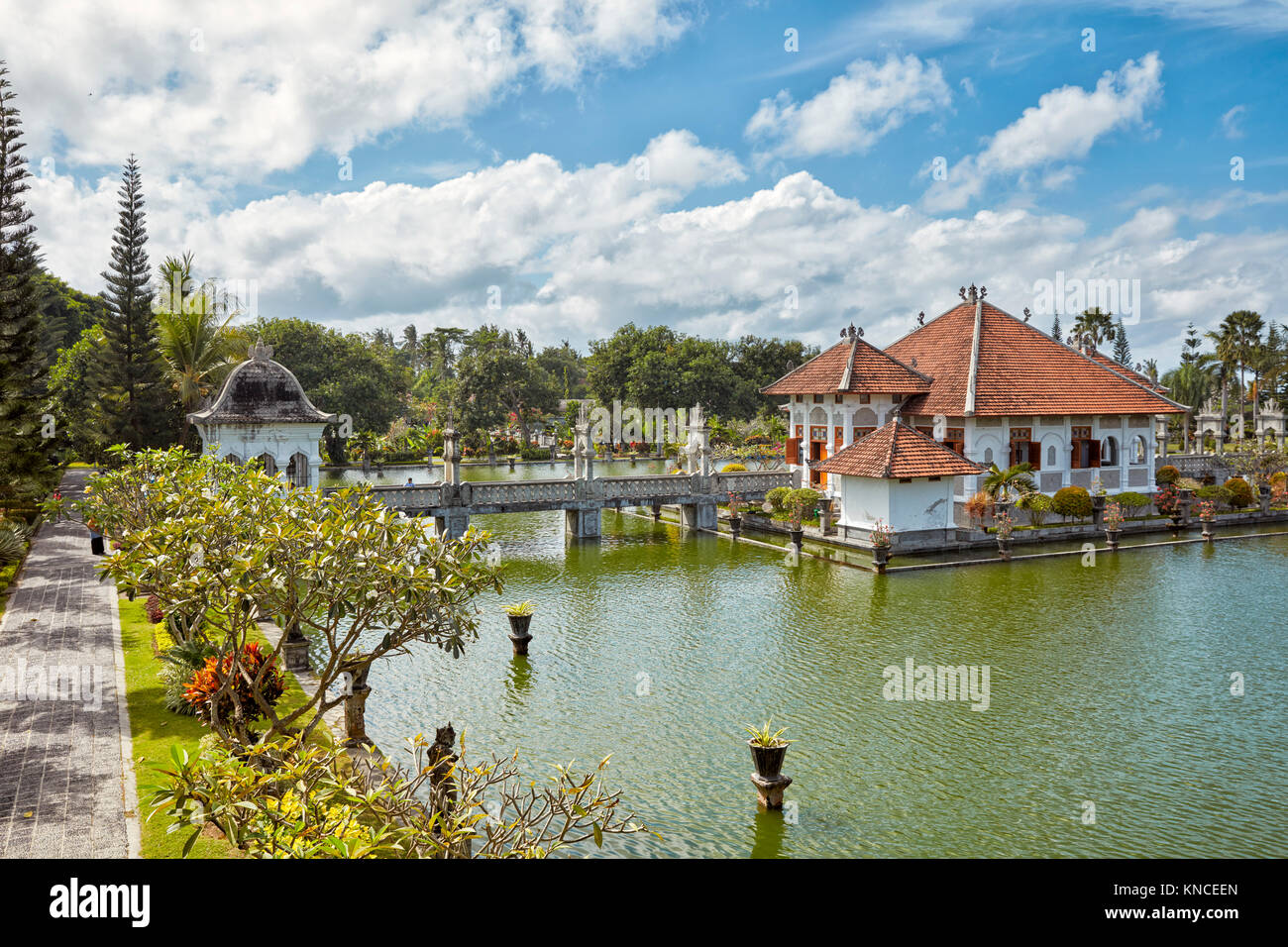The Gili Bale, main building of the Ujung Water Palace (Taman Ujung), also known as Sukasada Park. Karangasem Regency, - Stock Image