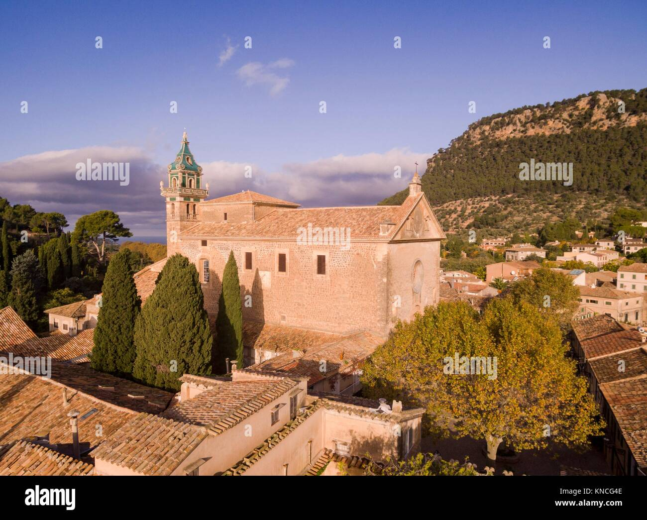 Cartuja , Valldemossa, Sierra de Tramuntana, Mallorca, Balearic Islands, spain, europe. - Stock Image