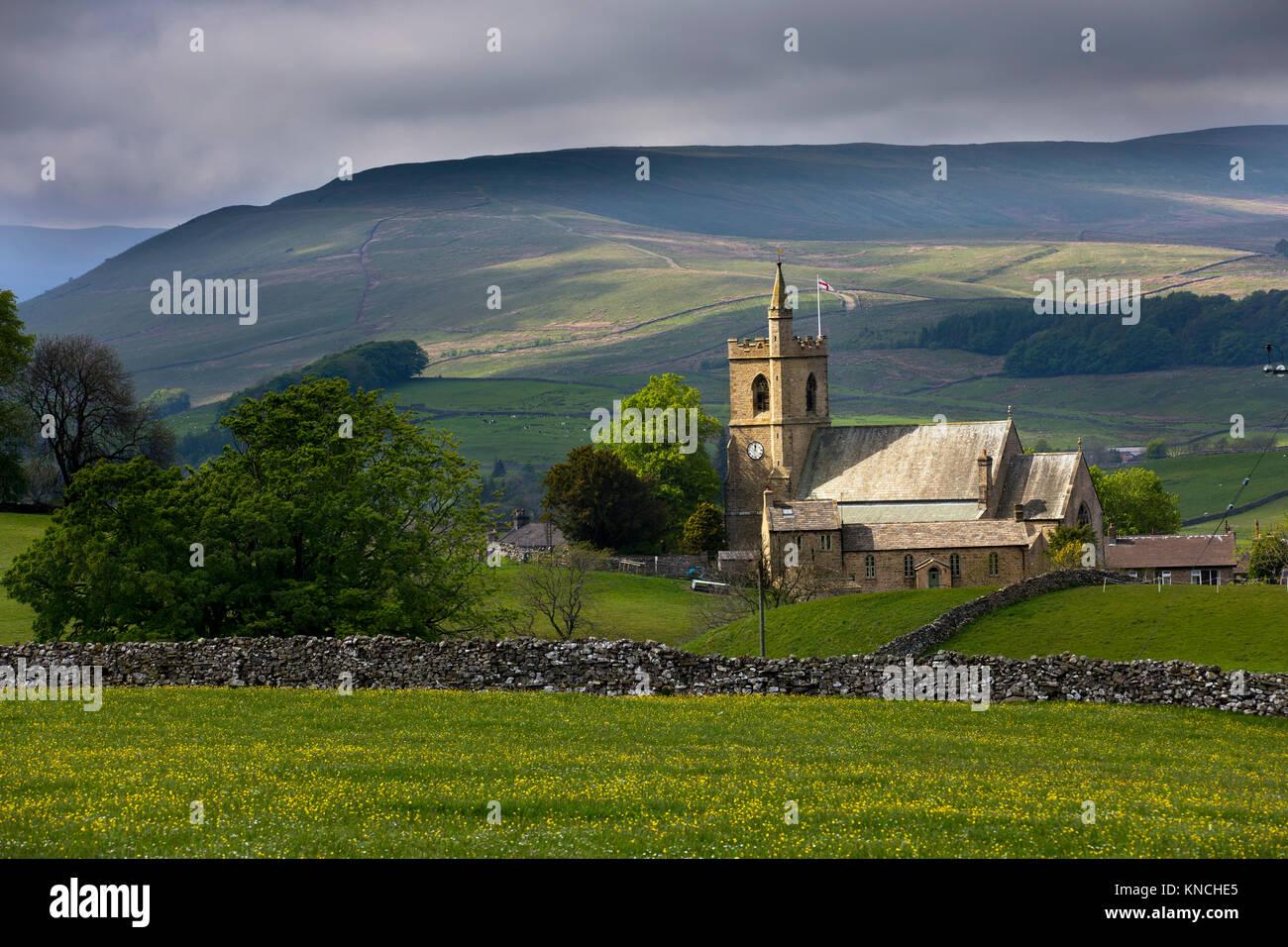 Hawes Church; Wensleydale; Yorkshire; UK Stock Photo