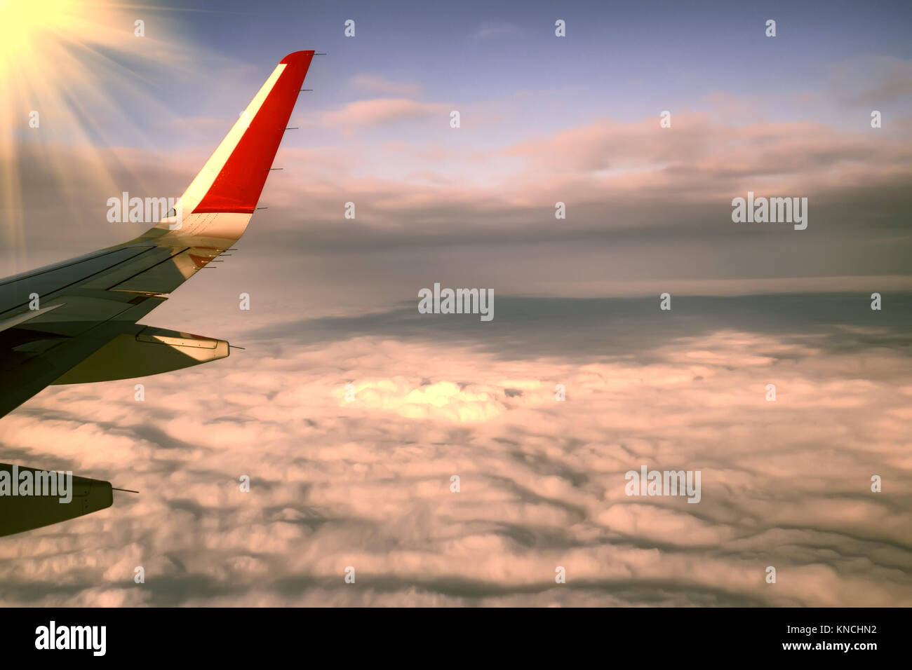 Skyscape viewed from airplane - Stock Image