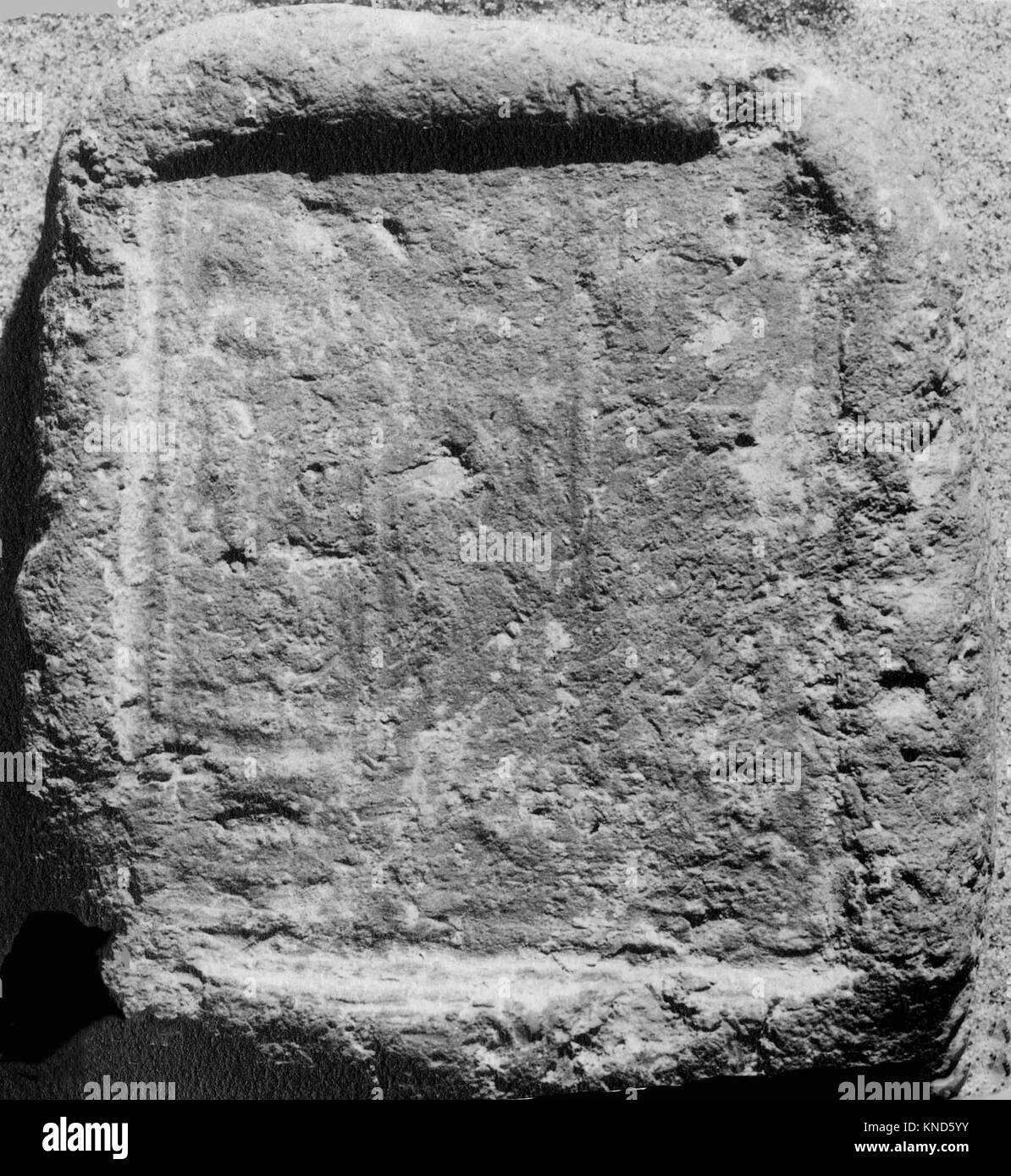 Funerary Cone of a Scribe of the Offering Table and Butler Named Nebamun. MET 30-6-35 554857 Funerary Cone of a - Stock Image