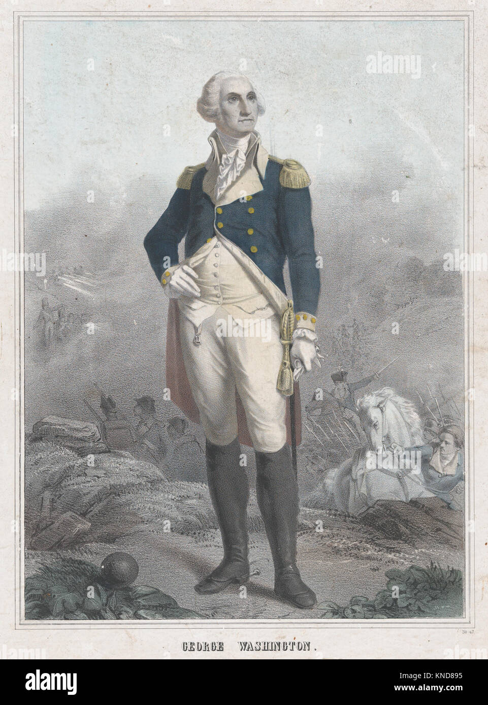 George Washington MET DP870402 732732 Artist: (?) Anonymous, French, 19th century, Artist: Derived from L?on Cogniet, - Stock Image