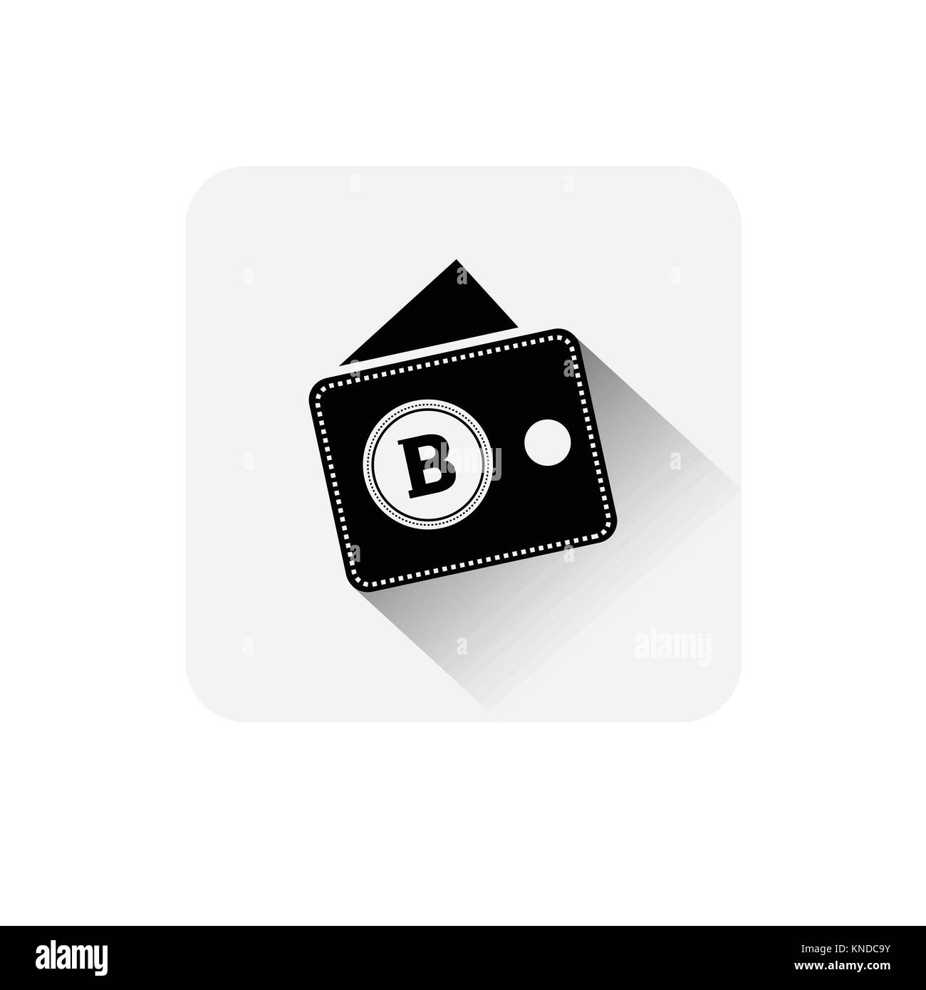 Bitcoin Wallet Icon Digital Web Money Crypto Currency Logo Concept