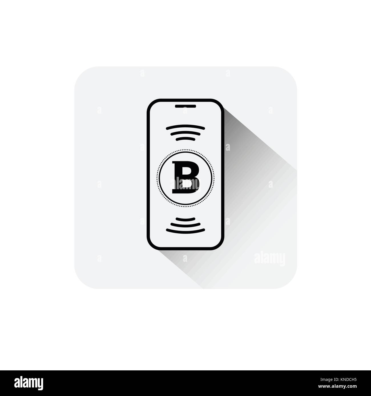 Bitcoin Sign On Smart Phone Screen Icon Digital Web Money Crypto