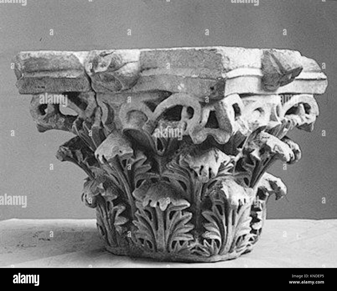 Capital with Acanthus Leaves MET 14948 453855 - Stock Image
