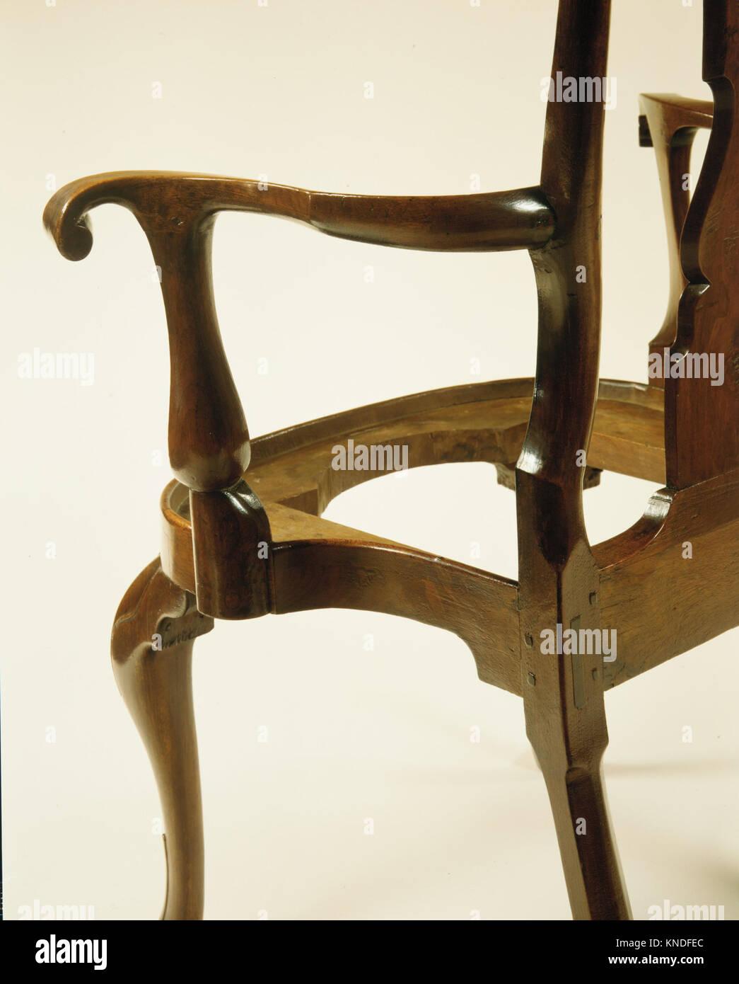 Armchair MET ADA3128 184 American, Armchair, 1740?60, Walnut, 41 x ...
