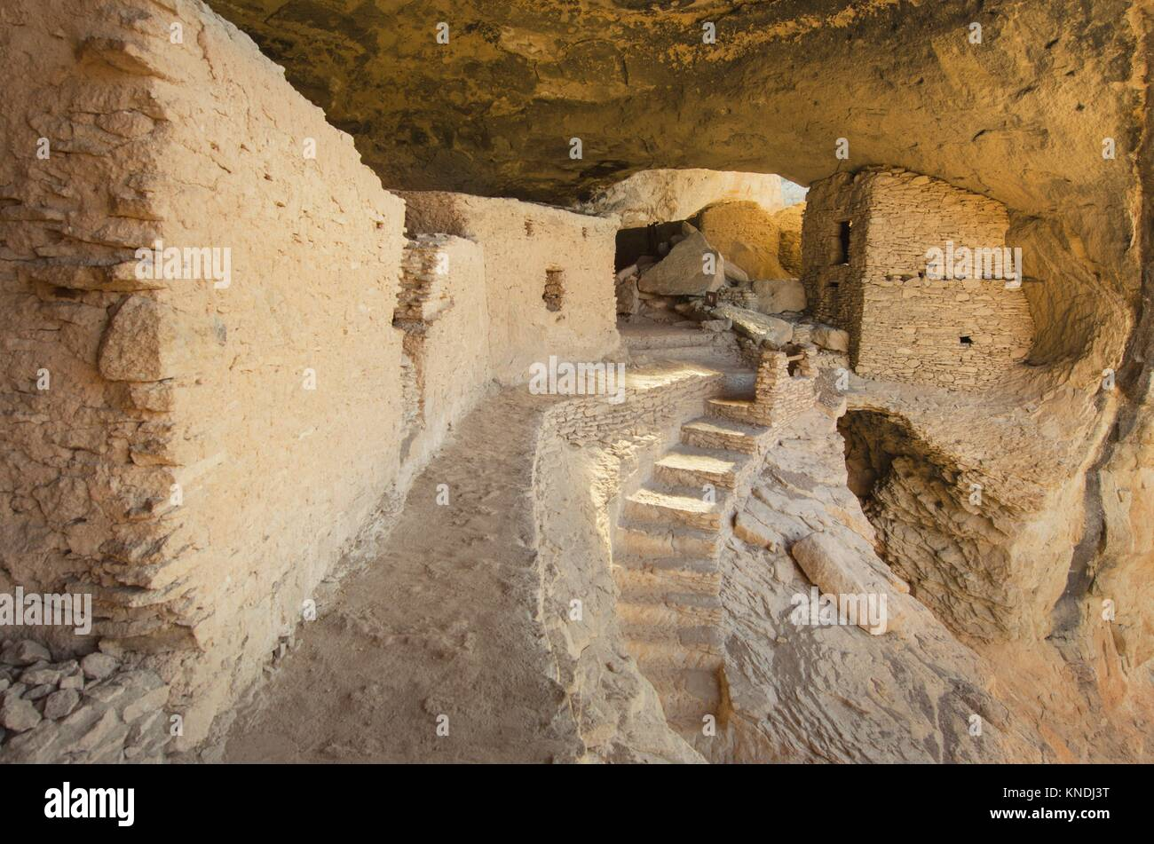 Gila Cliff Dwellings National Monument. Stock Photo