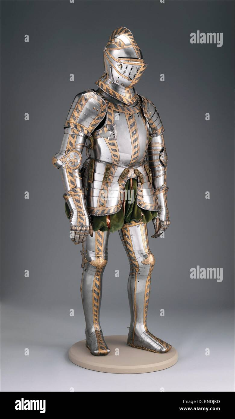 Field and Tournament Armor. Armorer: Attributed to Anton Peffenhauser (German, Augsburg, 1525-1603); Etcher: Etched - Stock Image