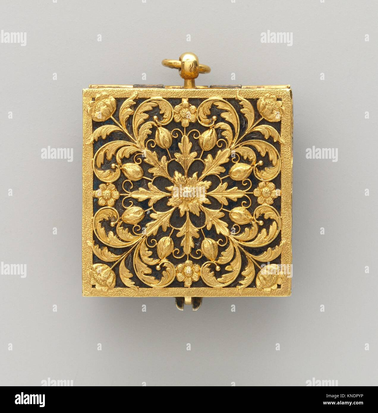Watch. Maker: Watchmaker: F. L. Meybom (active ca. 1650-80); Maker: Case attributed to Isaac Bergeron dit d'Argent Stock Photo