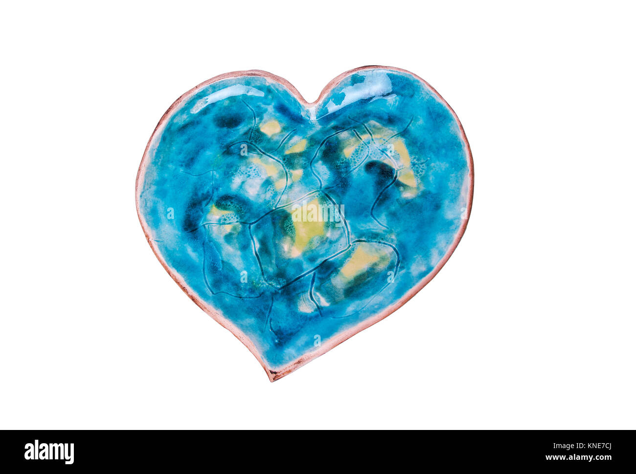 Saucer in the shape of heart. - Stock Image