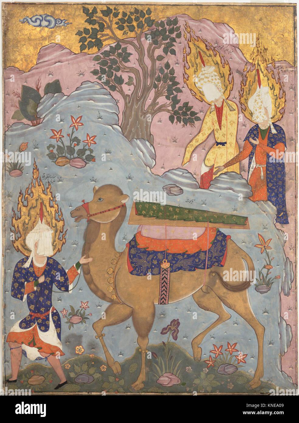 Coffin of Imam 'Ali , Folio from a Falnama (The Book of Omens) of Ja'far al-Sadiq MET DP148341 451017 - Stock Image