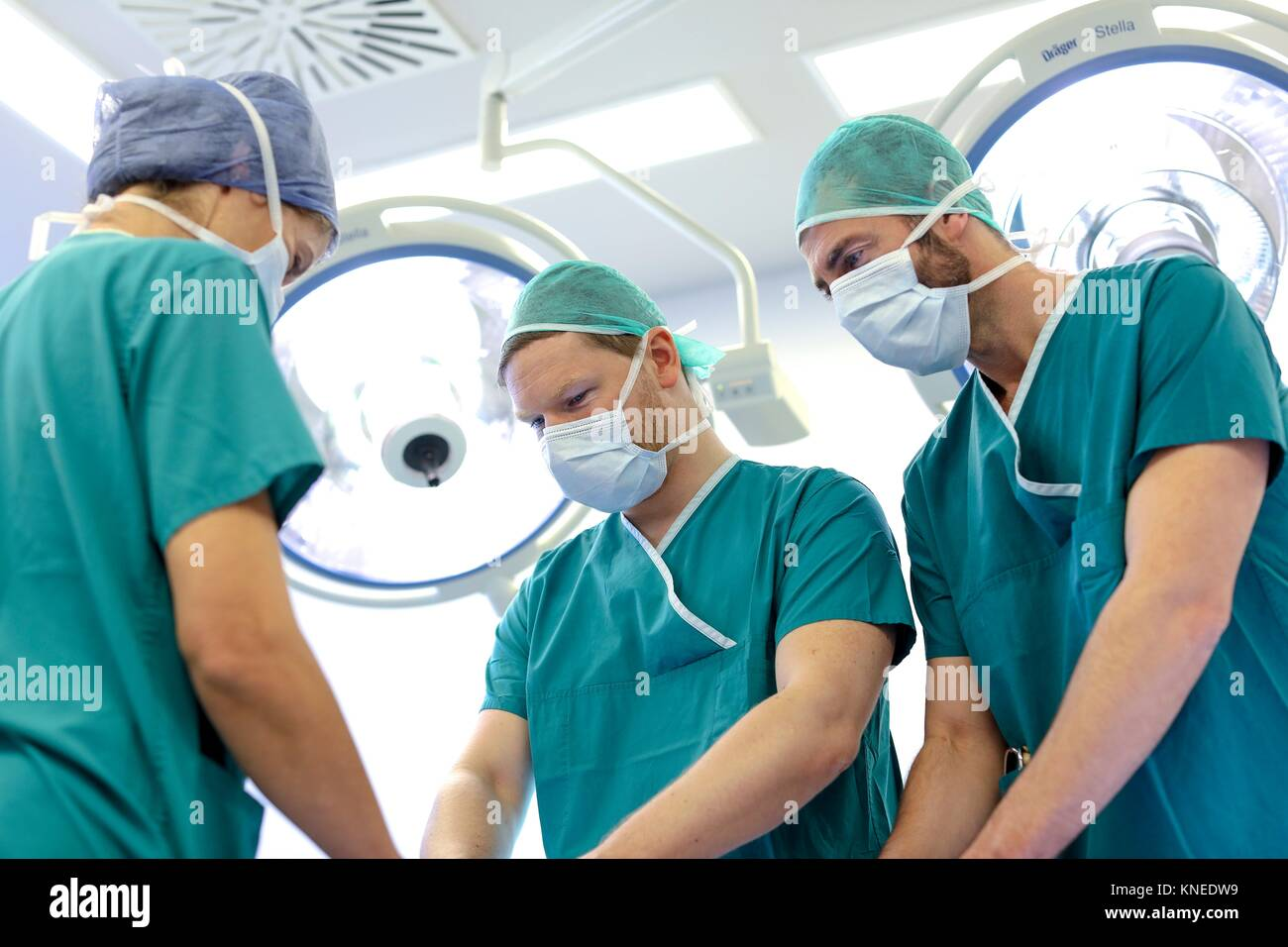 Surgery, Operating room, Hospital, Spain - Stock Image