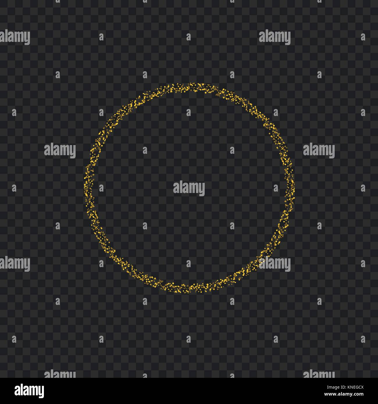 Golden sparkles ring - Stock Image