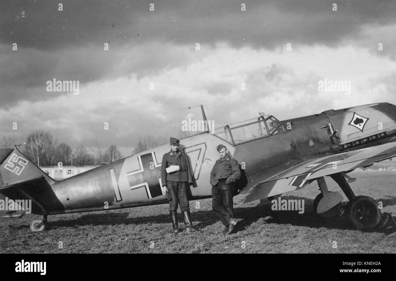 German Messerschmitt Bf 109 Fighter Plane Luftwaffe - Stock Image