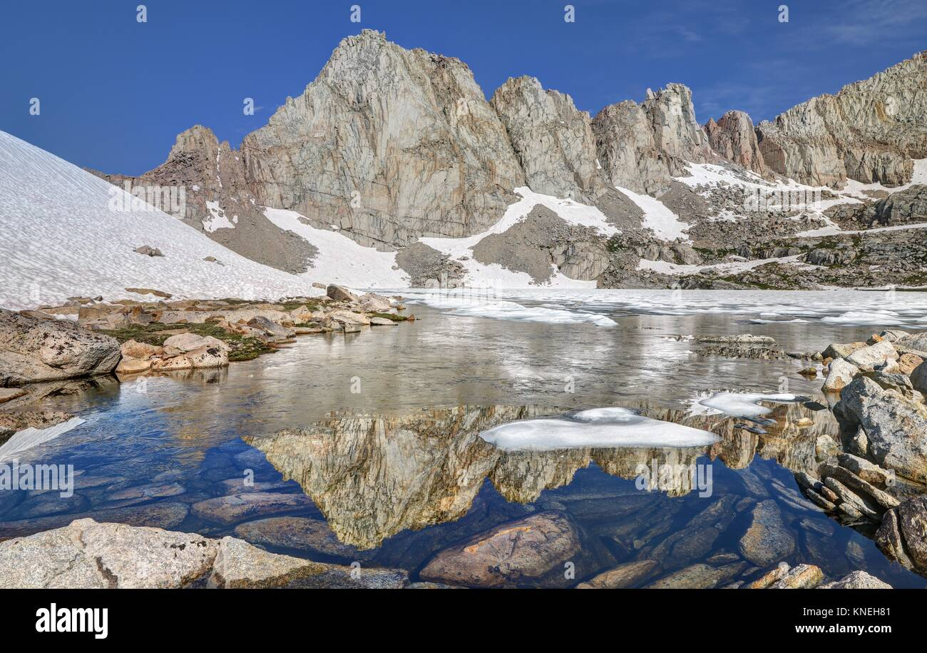 Reflections in Miter Basin, Sequoia National Park, California, America, USA Stock Photo