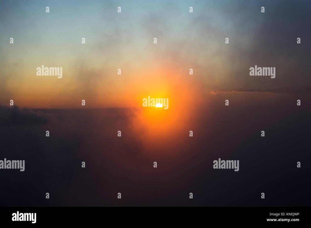Sunset in Tà Xùa, Sơn La, Việt Nam - Stock Image
