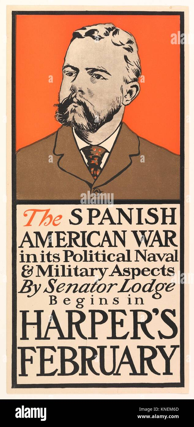 Harper's: The Spanish American War, February. Artist: Edward Penfield (American, Brooklyn, New York 1866-1925 - Stock Image