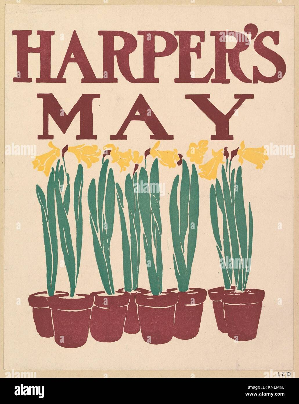 Harper's: May. Artist: Edward Penfield (American, Brooklyn, New York 1866-1925 Beacon, New York); Publisher: - Stock Image