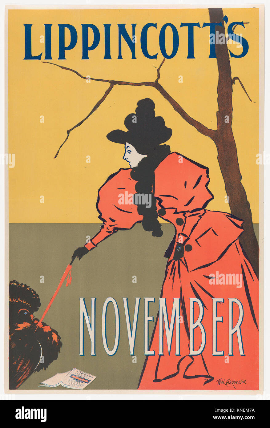 Lippincott's: November. Artist: William L. Carqueville (American, Chicago, Illinois 1871-1946); Publisher: J. - Stock Image