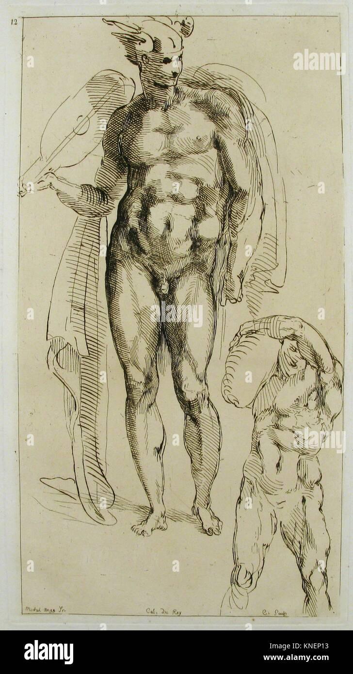 Mercury. Artist: Anne Claude Philippe de Tubières, comte de Caylus (French, Paris 1692-1765 Paris); Artist: - Stock Image