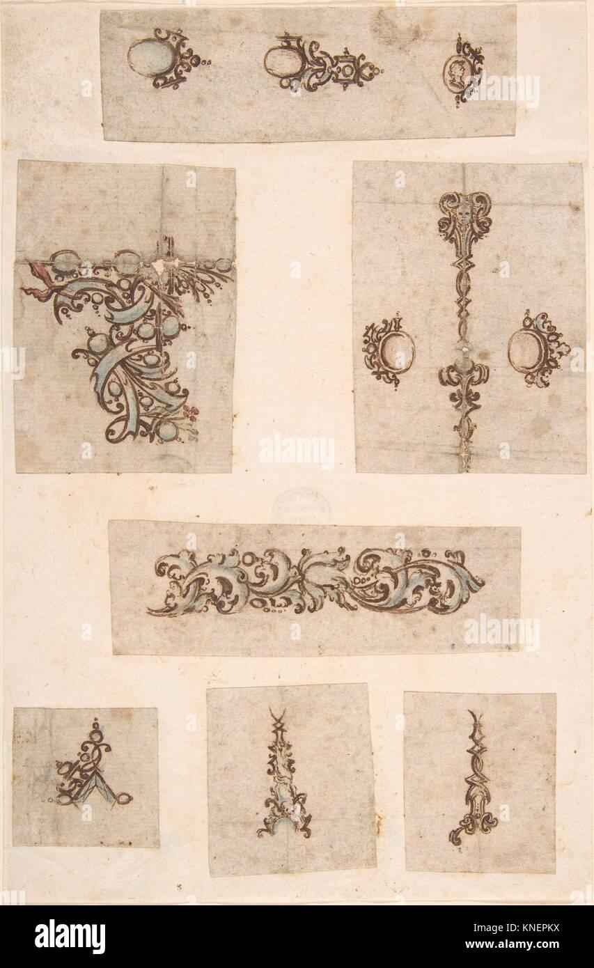 Sheet of Jewelry Designs  Artist: Anonymous, Italian, 17th