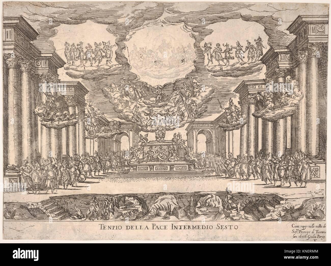Sixth interlude: temple of peace (Intermedio sesto: tempio della pace), from the series 'Seven Interludes' - Stock Image