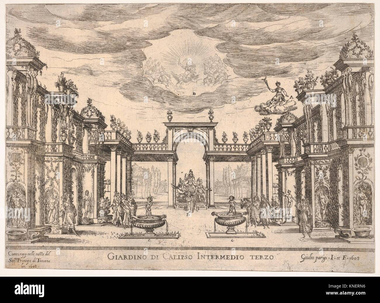 Sixth interlude: garden of Calypso (Intermedio sesto: giardino di Calipso), from the series 'Seven Interludes' - Stock Image