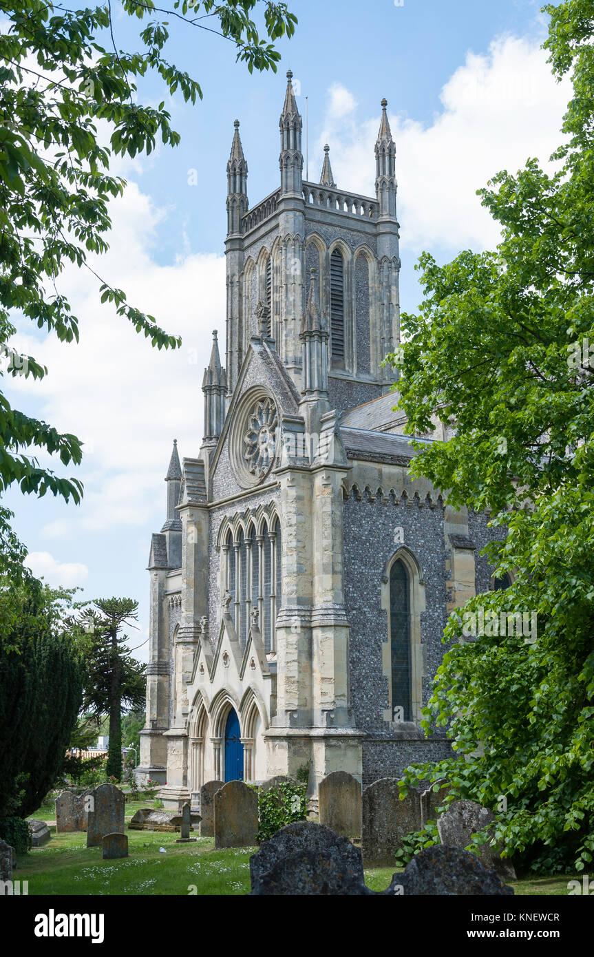 St Mary's Church, Church Close, Andover, Hampshire, England, United Kingdom - Stock Image
