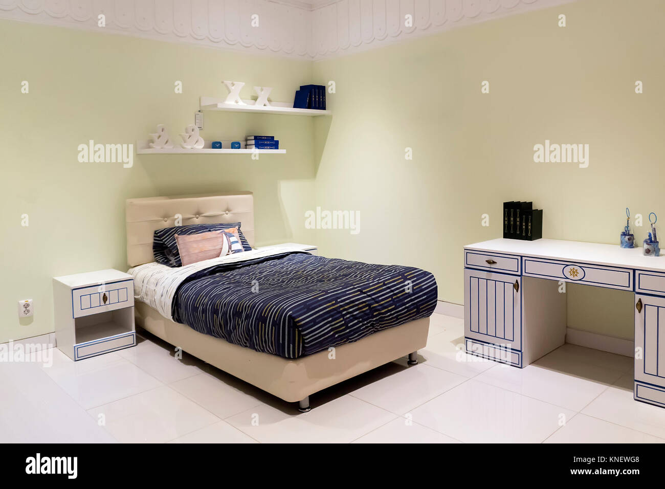 Shot of a spacious cosy children's room - Stock Image