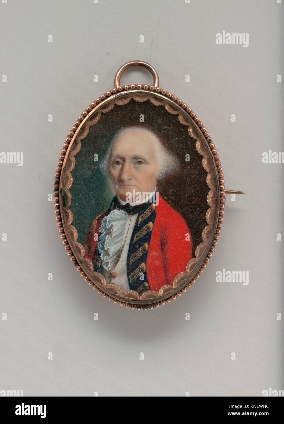 John Maunsell. Artist: John Ramage (Ireland ca. 1748-1802 Montreal); Date: ca. 1785; Medium: Watercolor on ivory; - Stock Image