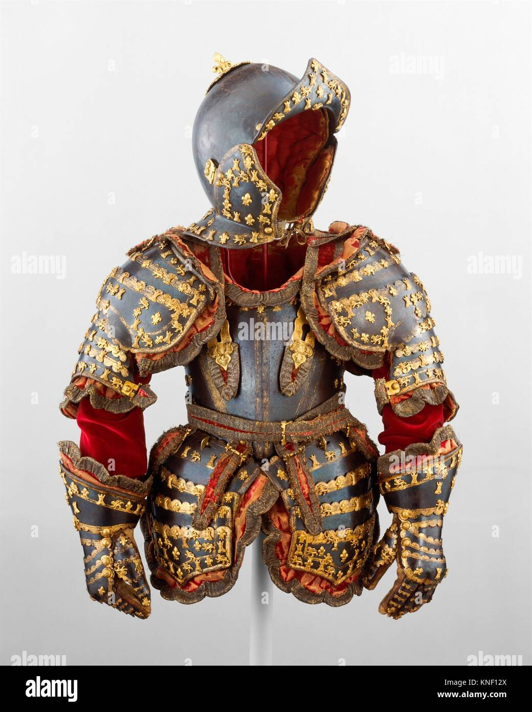Armor of Infante Luis, Prince of Asturias (1707-1724). Armorer: Signature probably refers to Jean Drouart (French, - Stock Image