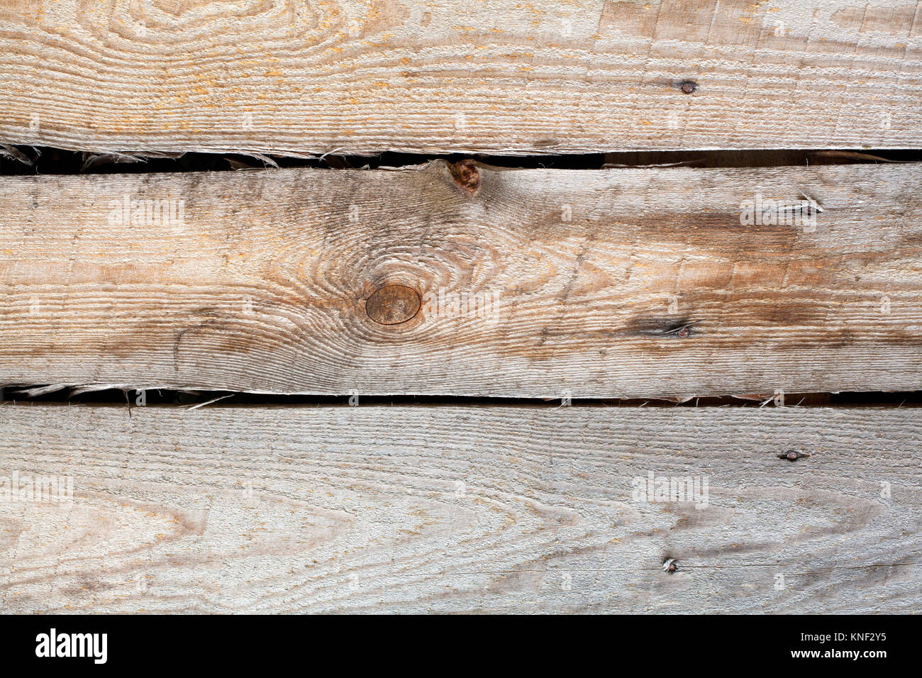 Wood texture natural pattern. Aged wooden planks background. macro view photo - Stock Image