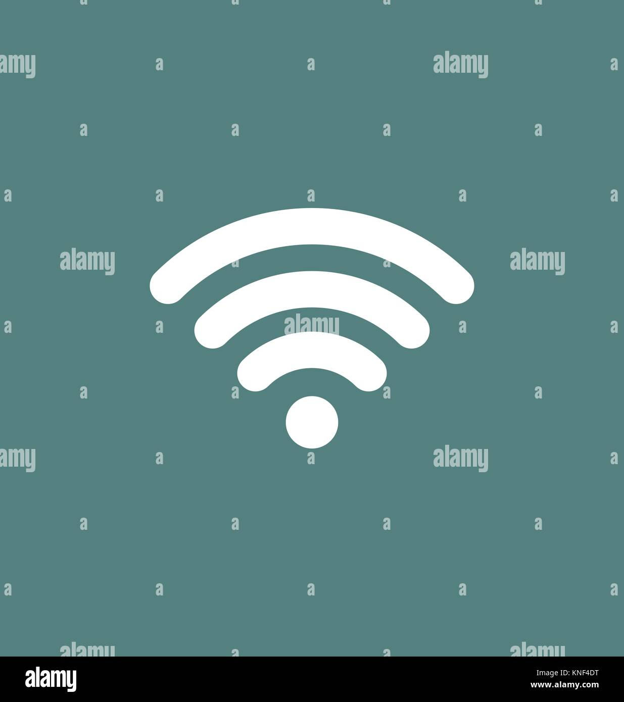Wifi icon connection. Wifi signal / coverage symbol vector illustration. - Stock Image