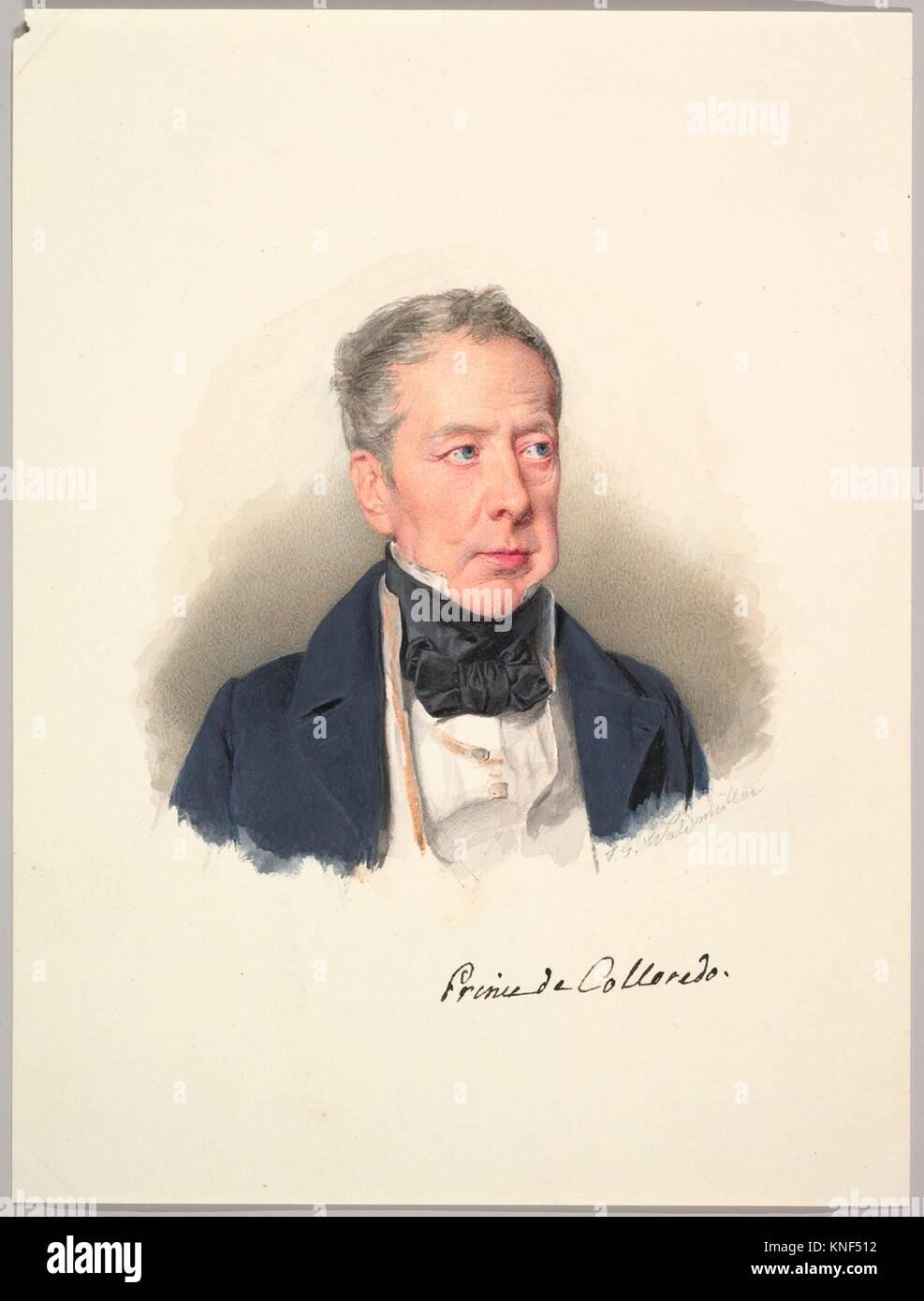 Prince Rudolph Joseph of Colloredo-Mansfeld. Artist: Ferdinand Georg Waldmüller (Austrian, Vienna 1793-1865 - Stock Image
