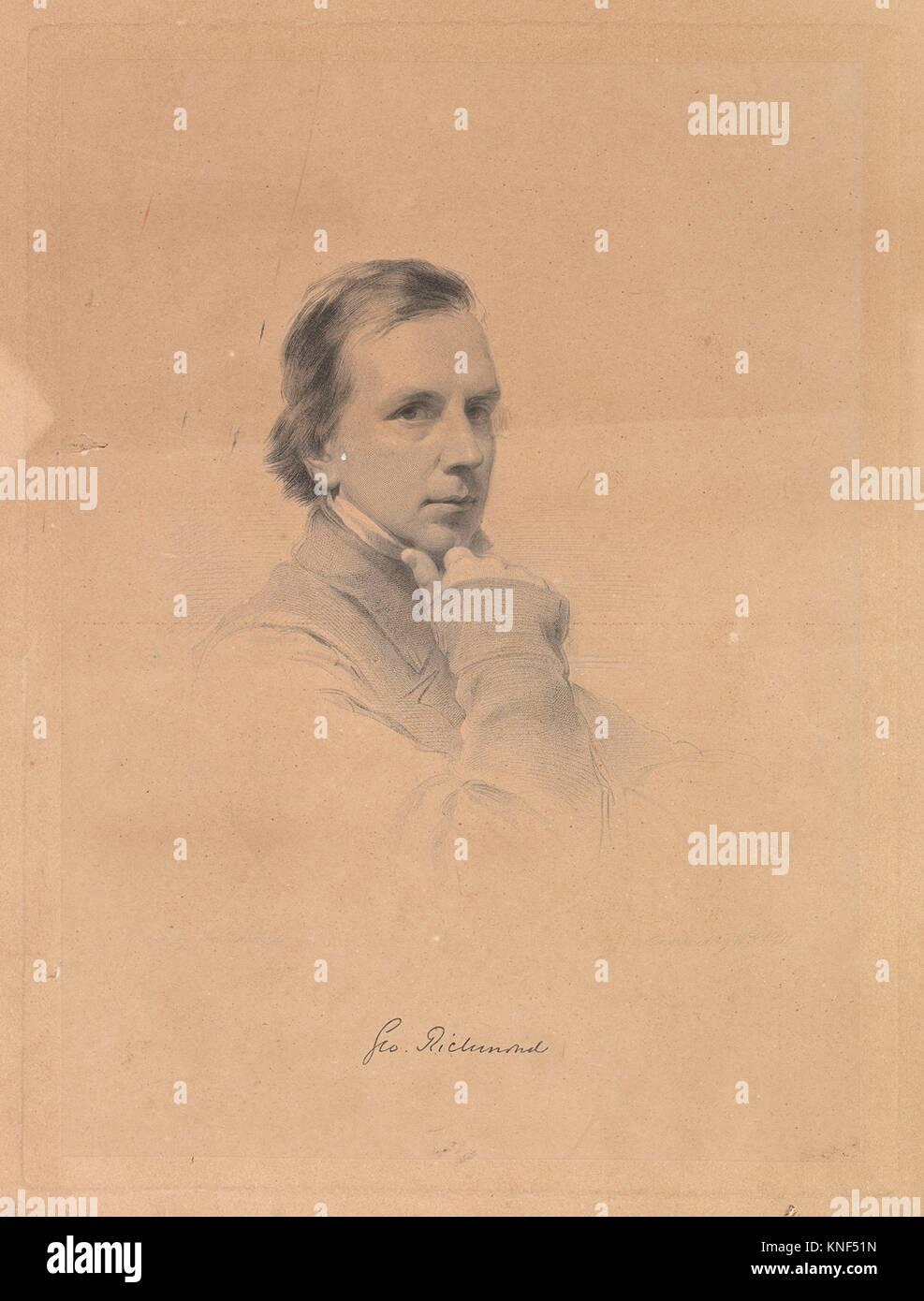 George Richmond - Self-portrait. Artist: After George Richmond (British, Brompton 1809-1896 London); Engraver: William - Stock Image