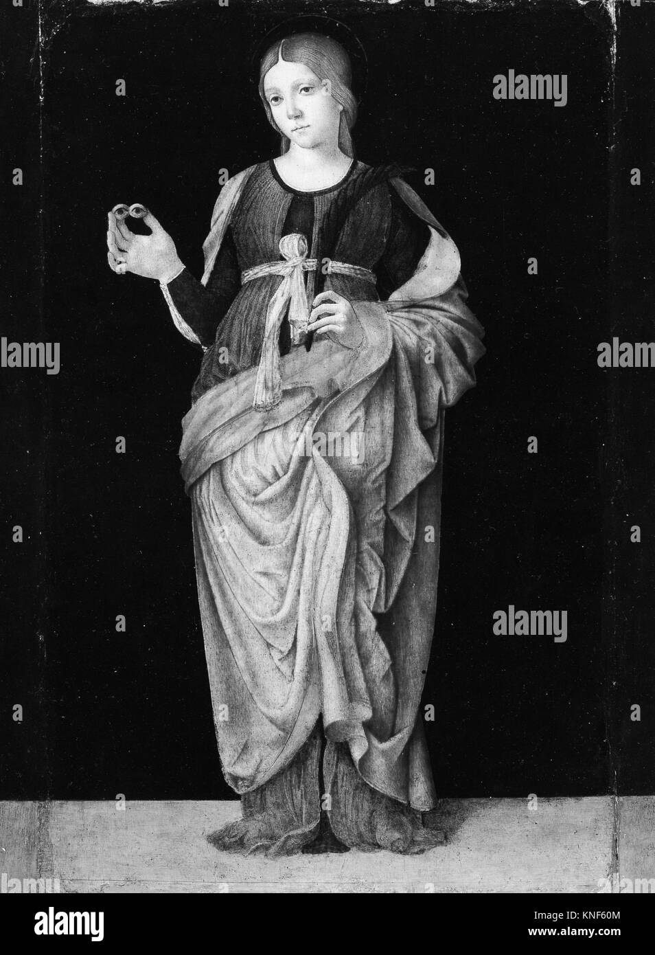 Saint Lucy. Artist: Francesco Zaganelli (Francesco di Bosio) (Italian, Romagnole, active by 1499-died 1532); Medium: - Stock Image