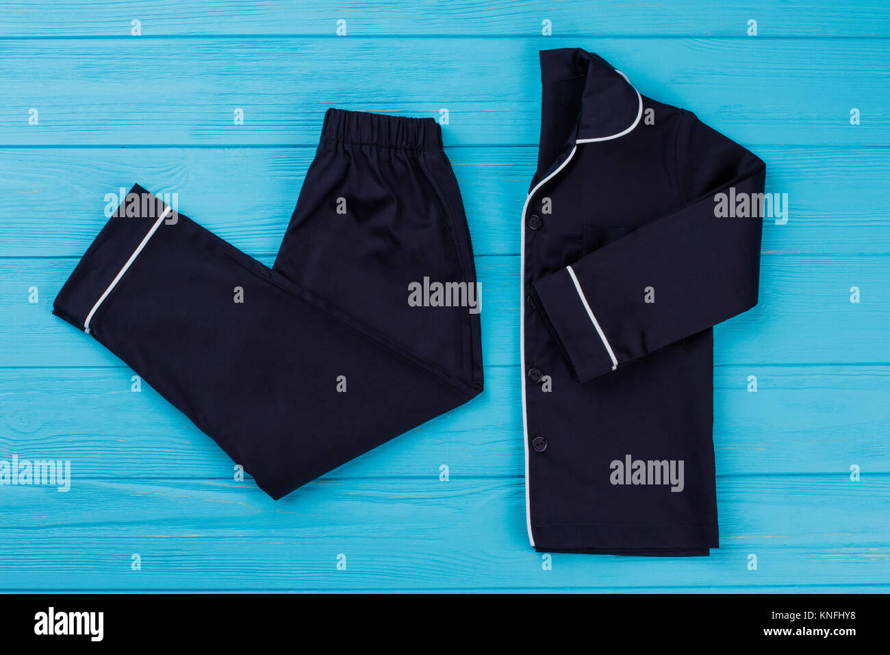 Classic sleepwear set for boys - Stock Image