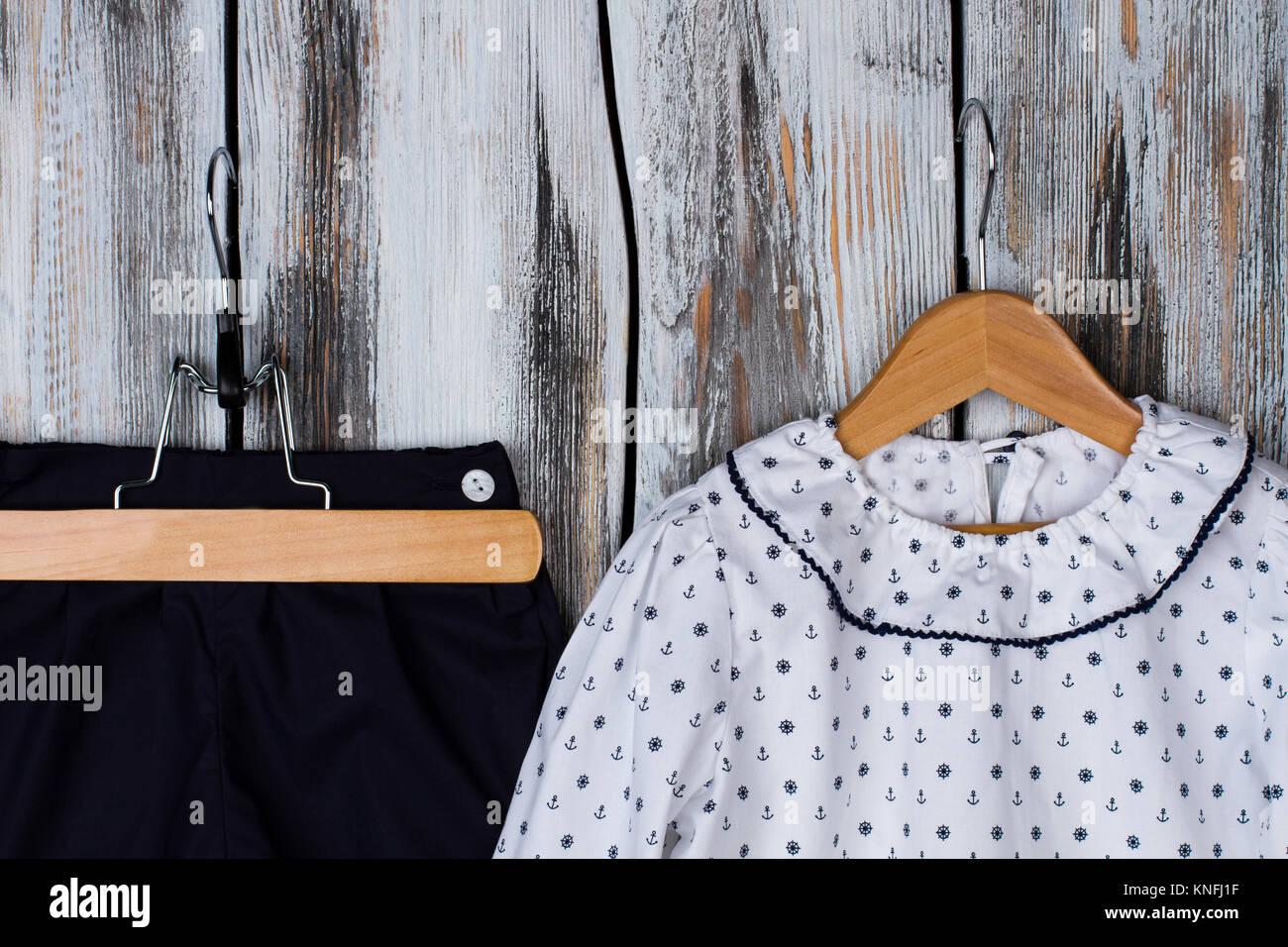 Close up on kids pajama - Stock Image