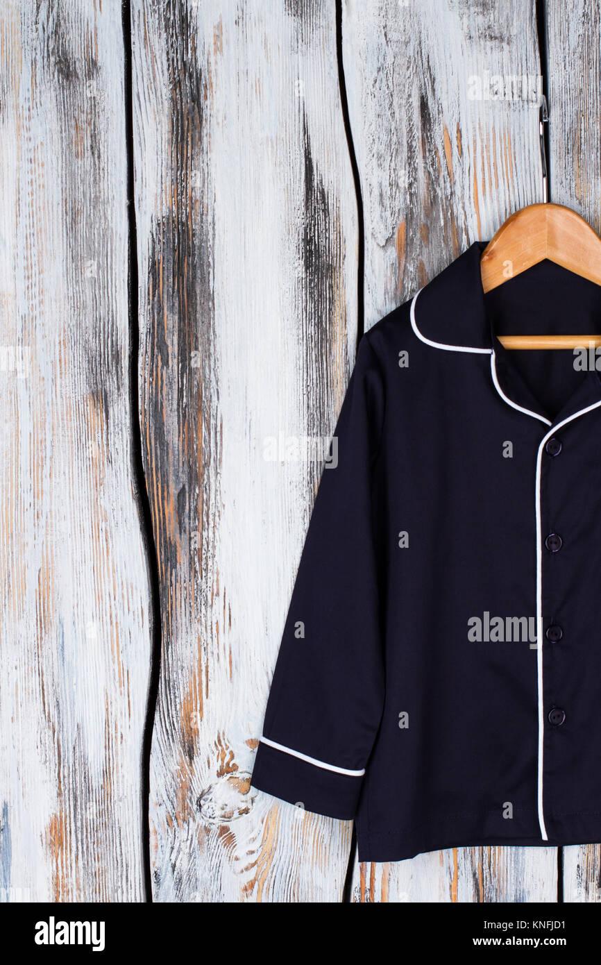 Classic navy pajama shirt - Stock Image