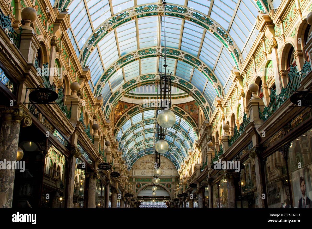 County Arcade in the Victoria Quarter,Leeds,West Yorkshire,England,UK. - Stock Image