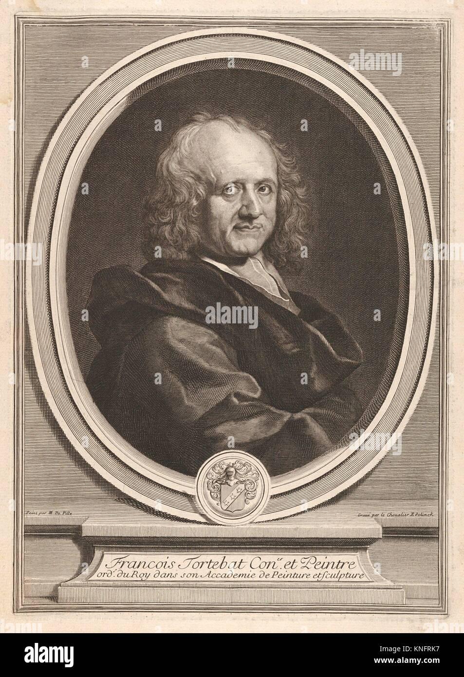 François Tortebat. Artist: Gérard Edelinck (Dutch, Antwerp 1640-1707 Paris); Artist: After M. De Pille; Date: late Stock Photo