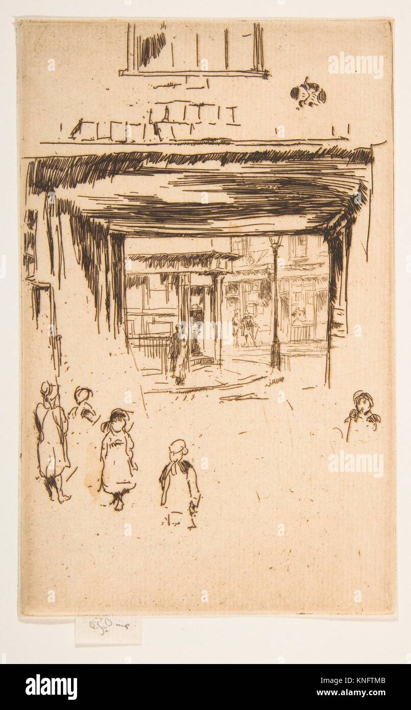 Drury Lane. Series/Portfolio: Second Venice Set (A Set of Twenty-Six Etchings by James A. McN. Whistler, 1886); - Stock Image