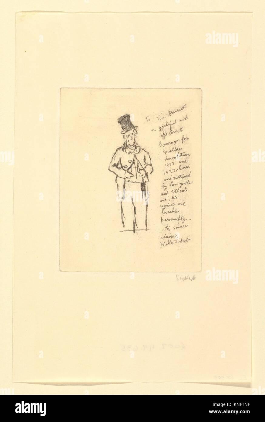 In Memorium: T.W. Barrett. Artist: Walter Richard Sickert (British, Munich 1860-1942 Bathampton, Somerset); Date: - Stock Image