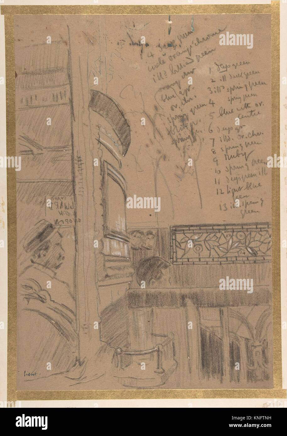 Vesta Victoria at the Old Bedford. Artist: Walter Richard Sickert (British, Munich 1860-1942 Bathampton, Somerset); - Stock Image