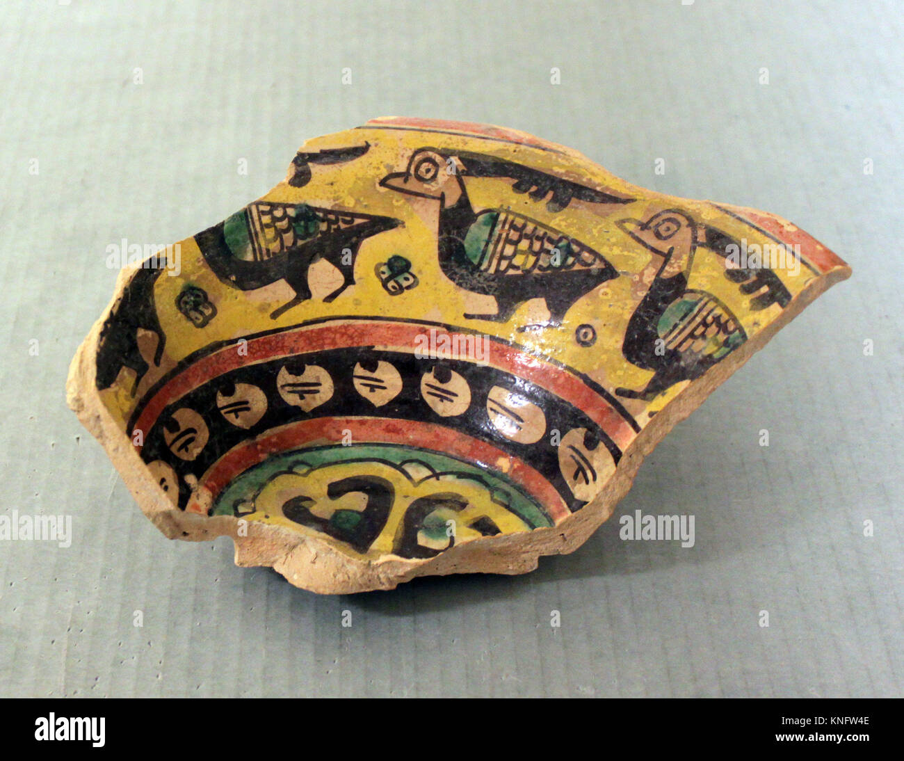 Fragment of a Bowl. Object Name: Fragment; Date: 9th-10th century; Geography: Excavated in Iran, Nishapur. Attributed - Stock Image