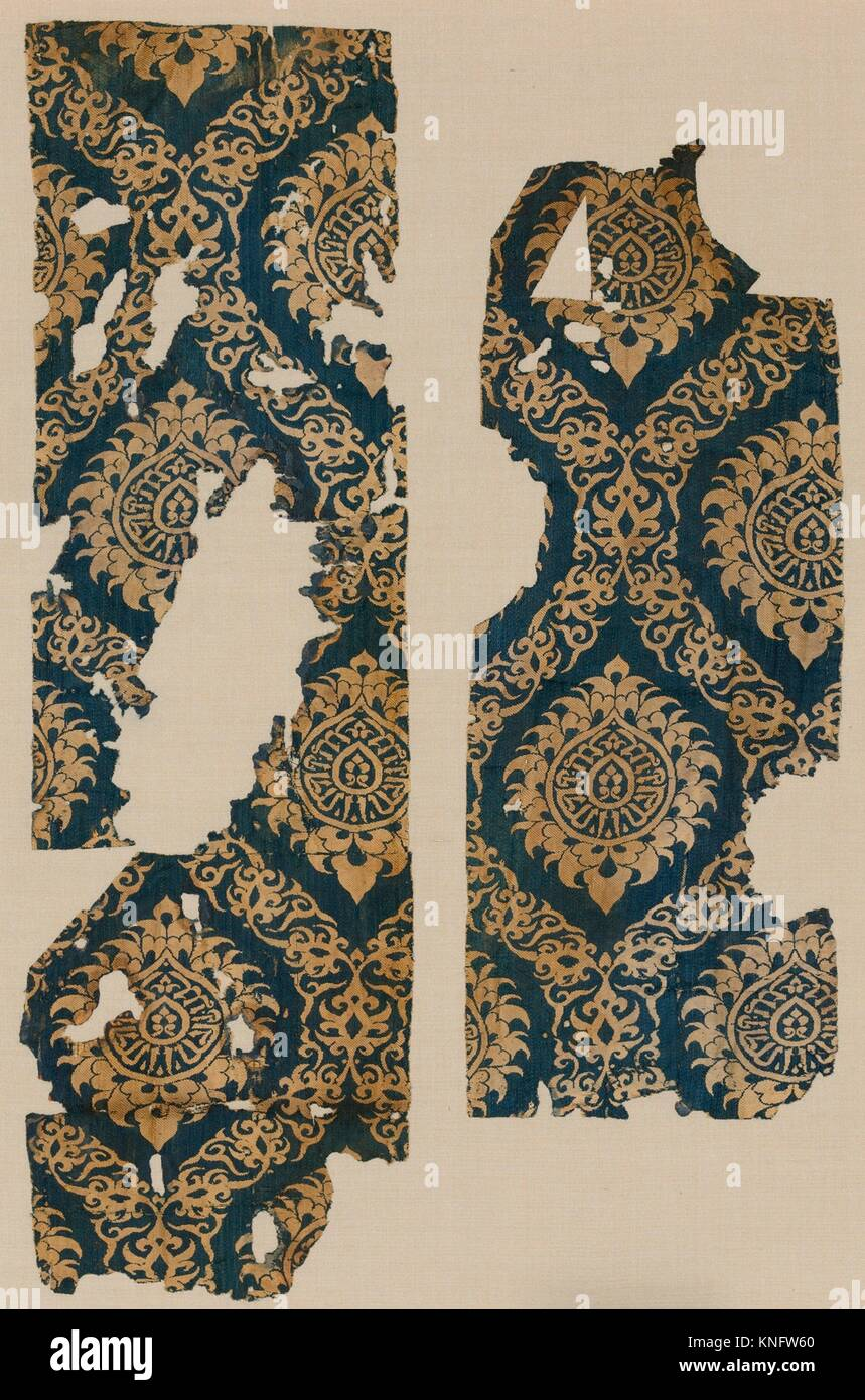 Textile Fragment with Ogival Pattern  Object Name: Fragment