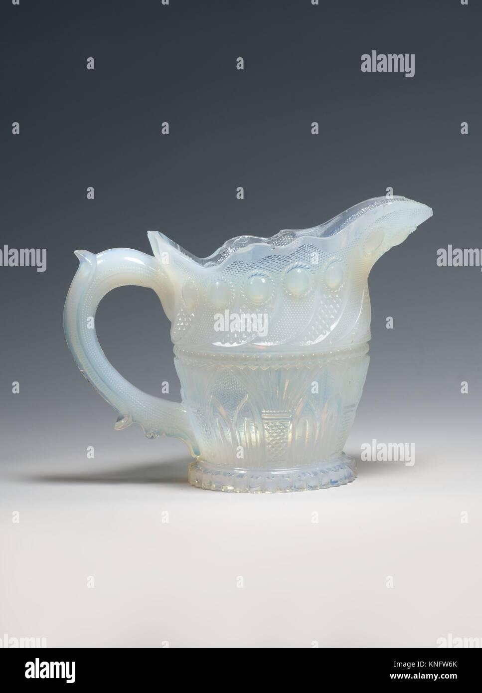 Cream pitcher. Manufacturer: Probably Boston & Sandwich Glass Company (American, 1825-1888, Sandwich, Massachusetts); Stock Photo
