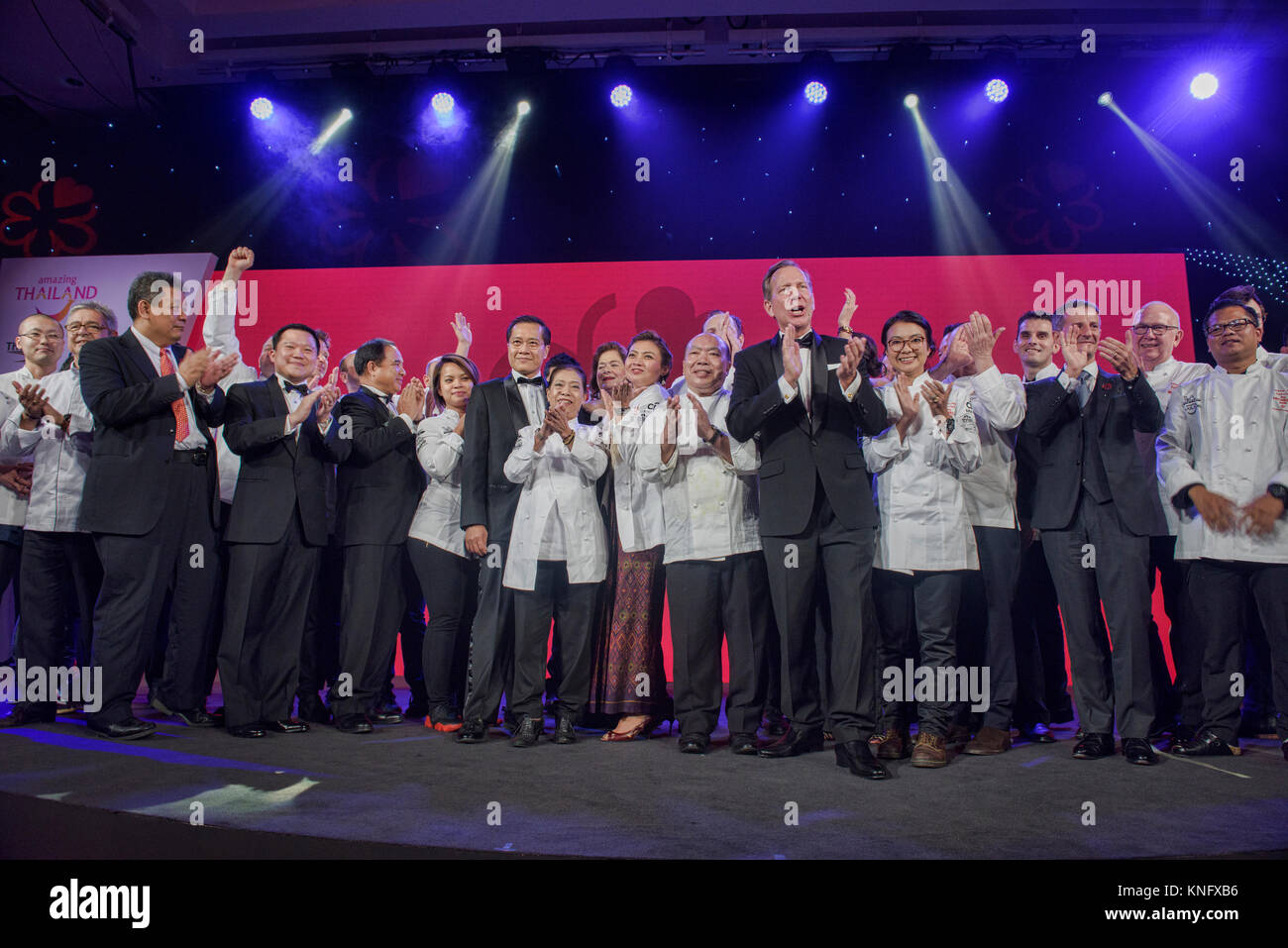 The winning chefs of newly starred restaurants by the Michelin Guide, Bangkok, Thailand Stock Photo
