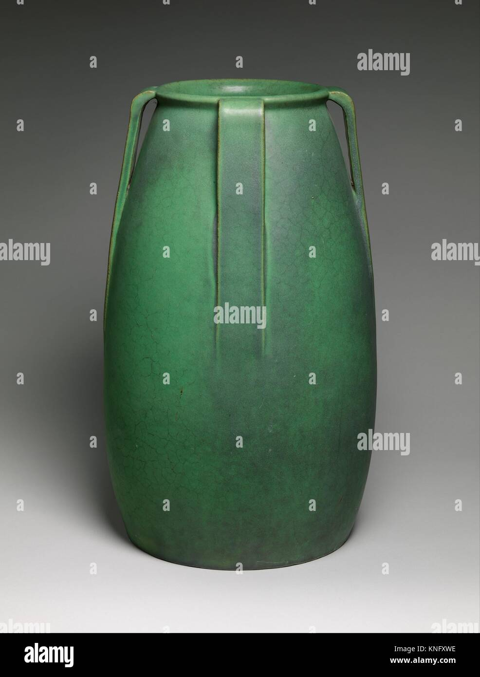 Vase. Designer: Designed by William Day Gates (1852-1935); Manufacturer: Manufactured by Gates Potteries (Teco Pottery) - Stock Image